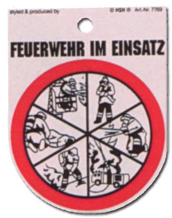 Hinweisschild - Feuerwehr im Einsatz - Feuer Wehr Brand Brandschutz Schild Warnschild Warnzeichen Arbeitssicherheit Türschild Tür Kunststoff Kunststoffschild