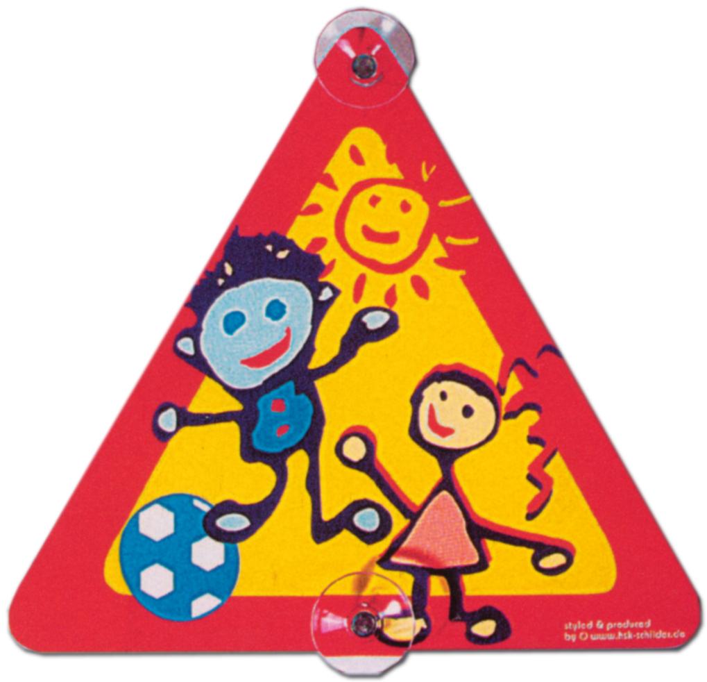 Hinweisschild - Bild : Spielende Kinder , mit Saugnäpfen - Kind Spielen Spiel Schild Warnschild Warnzeichen Arbeitssicherheit Türschild Tür Kunststoff Kunststoffschild