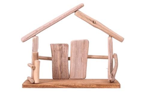 Krippe aus Holz - Natur - 28 cm breit, 22 cm hoch