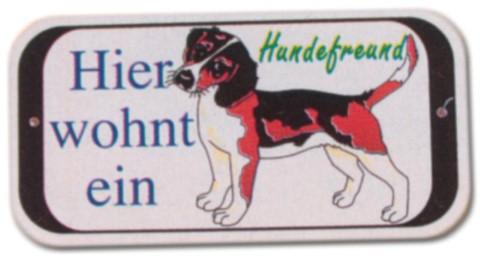 PST-Schild - Hier wohnt ein Hundefreund - Hund Schild Warnschild Warnzeichen Arbeitssicherheit Türschild Tür Kunststoff Geschenk Geburtstag