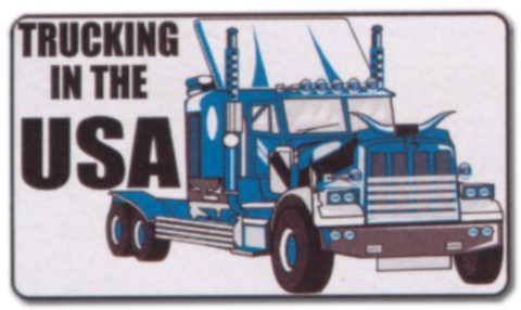 Hinweisschild - Trucking in the USA - LKW Trucker Brummi Schild Warnschild