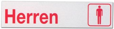 Hinweisschild - Büroschild ohne roten Rand - Herren - Herr Mann Männertoilette Toilette Toiletten Herrentoilette Klo Schild Warnschild