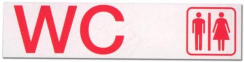 Hinweisschild - Büroschild ohne roten Rand - WC - Wasserclosett Wasser Closett Toilette Toiletten Klo Schild Warnschild
