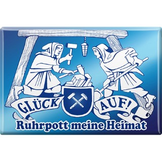 Magnet mit Motiv - Glück auf Ruhrpott meine Heimat - Retro Vintage