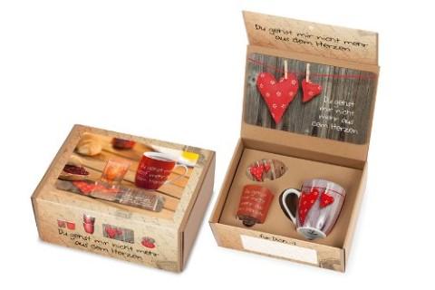 Geschenkset für Dich - Guten Morgen Box Herzen (rot)