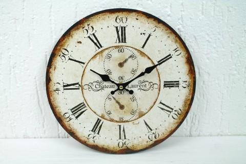 Vintage Wanduhr Chateau Laurent Chronometer - 28cm - Uhr für Küche Flur Wohnzimm