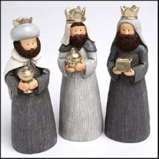 Heilige Drei Könige - 19cm hoch - Krippen Figuren - 3er Set aus Polyresin