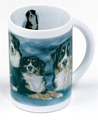 Berner Sennenhund Tasse - Christina Bötzel – Bern Senne Hund Designertasse T-Shirt