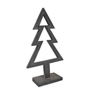 Deko Tanne, grau - Weihnachtsbaum - aus Holz, ca 51cm hoch