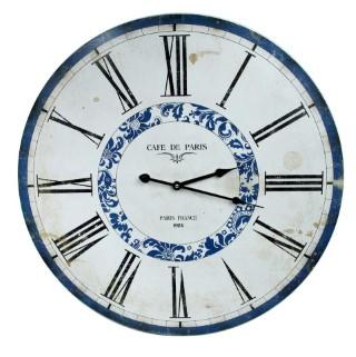 Riesige Wanduhr - Cafe de Paris France - d=60cm - Vintage Shabby Uhr