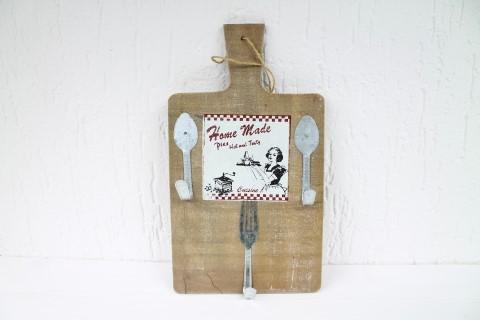 Schlüsselboard Home Made Cuisine - auch Hakenleiste für Küche - Cotton Landhaus Shabby