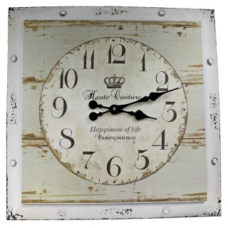 "Wanduhr ""Happiness of life"" 60 x 60 cm"