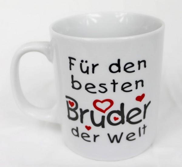 Tasse - Für meinen aller, aller, allerliebsten besten Bruder - Family Familie Kaffee Kaffeetasse Geschenk Geburtstag