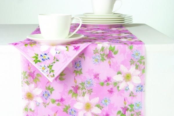 CLEMATIS 33 cm x 6 M Tischband Tischläufer aus Papier mit rose I ply