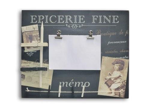 Memo-Board Notizbrett 'Epicerie Fine' mit Leine, Bleistift und Zettelblock