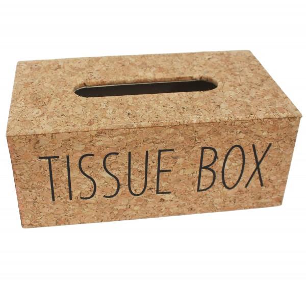 ~ Hochwertige Tücher-Box aus Kork, wunderschöner Look, 24,5 x 14 x 10,5 cm,