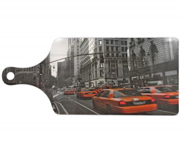 Frühstücks-Brett oder Schneide-Brett mit New York Taxi Motiv, 38x16,5cm