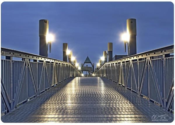 Holz-Postkarte, Aussichts-Turm Norddeich am Strand, Holz-Schild Wand-Bild Deko-Schild 15x10cm