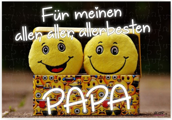 Puzzle-Botschaft eckig, Für meinen aller-besten Papa, 120 Teile 27x18cm inkl. Geschenk-Beutel, WB wohn trends®