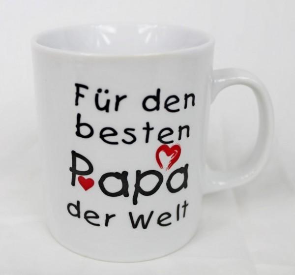 Tasse - Für Den Besten Papa Der Welt - Family Familie Kaffee Kaffeetasse Geschenk Geburtstag