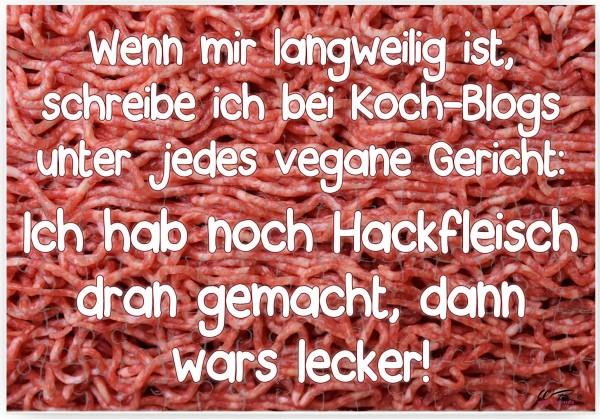 Puzzle-Botschaft eckig ~ Hackfleisch - schreibe ich unter Koch-Blogs ~ 120 Teile 27x18cm inkl. Geschenk-Beutel ~ WB wohn