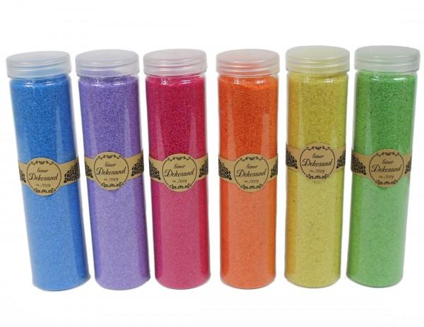 700g feiner Deko-Sand, bitte wählen Sie die gewünschte Farbe