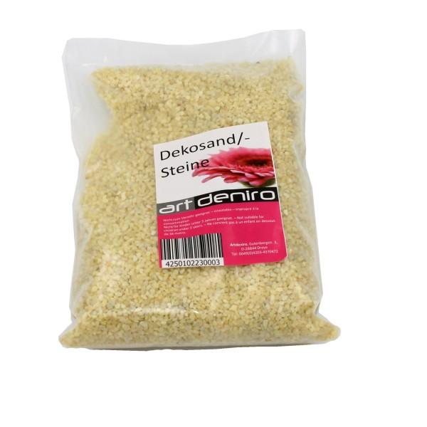 Edler Dekosand MIT VANILLE DUFT, creme / gelb, 500g, Sand zum Streuen und Dekorieren