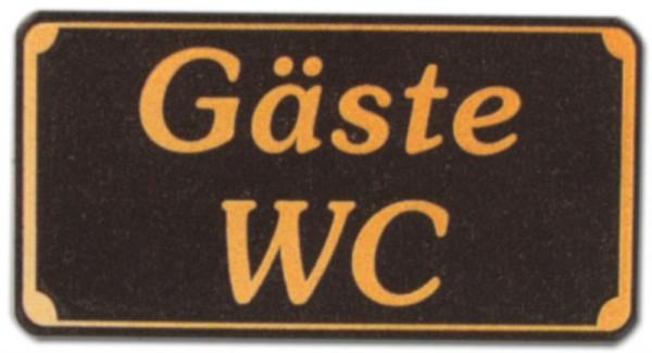 Hinweisschild - Gastronomieschild braun - Gäste WC - Gast Besuch Besucher Toilette Toiletten Klo Gastronomie Hotel Resta