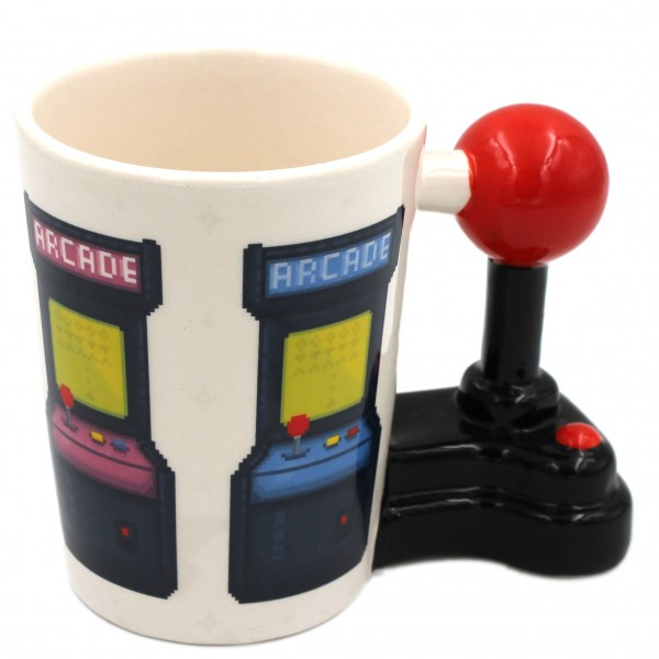 Retro-Gaming Tasse, Arcade-Automaten Game Over, Joystick Gamer-Tasse