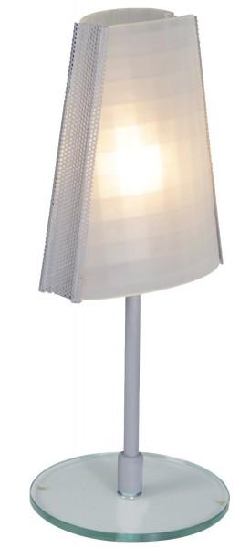 Näve Tisch-Lampe aus Glas Nachttisch-Leuchte Glastisch-Lampe 38cm hoch E14 40W