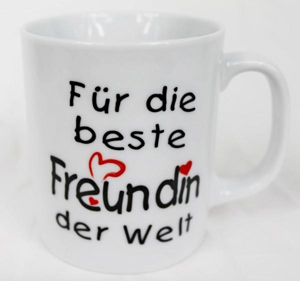 Tasse - Für die beste Freundin der Welt - Kaffee Kaffeetasse Geschenk Valentinstag