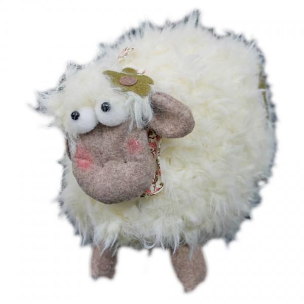 Lustiges Deko Schaf aus Plüsch ~ groß ~ Figur 23 x 18 x 14 cm