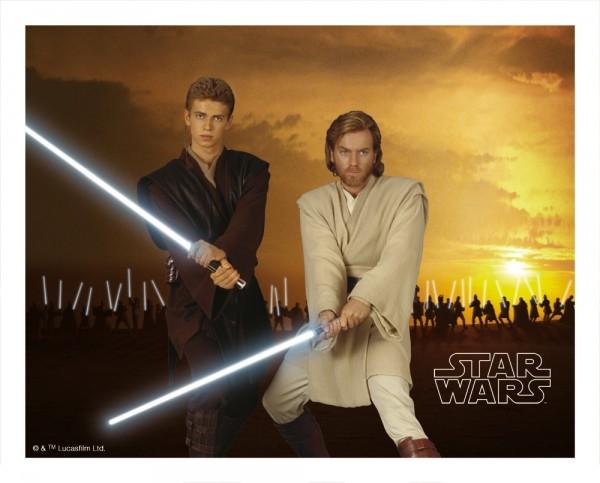 STAR WARS - Extreme 3D Mousepad - 1 - Anakin & Obi Wan Kenobi - 3D Mauspad