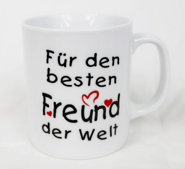 Tasse - Für den besten Freund der Welt - Kaffee Kaffeetasse Geschenk Valentinstag