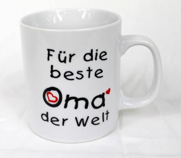 Tasse - Für Die Beste Oma Der Welt - Family Familie Kaffee Kaffeetasse Geschenk Geburtstag
