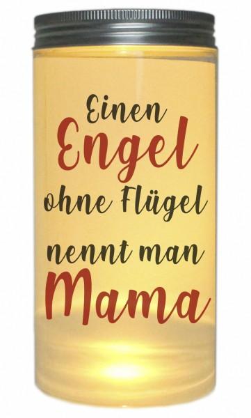 LED-Licht Einen Engel ohne Flügel nennt man Mama, 14x7cm Dose mit Deckel Leuchte LED-Lampe mit Text Spruch Mama Mutter-Tag