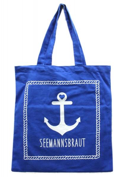 Tasche Seemannsbraut Anker, Einkaufs-Beutel blau weiß maritim