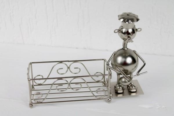 Öl & Essig / Salz & Pfeffer Ständer aus Metall - Koch von GILDE Küchenhelfer Serie