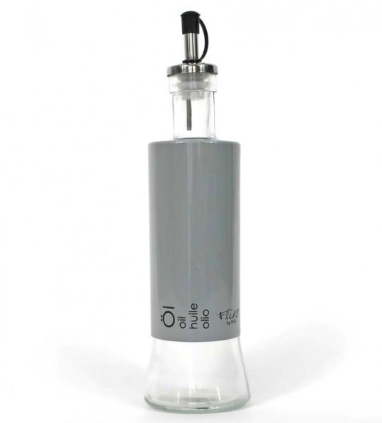 Öl-Ausgießer aus Glas und Kunststoff 24cm, aus der hochwertigen Küchen-Serie Cantina, grau schwarz, Öl-Flasche Ritzenhoff Breker