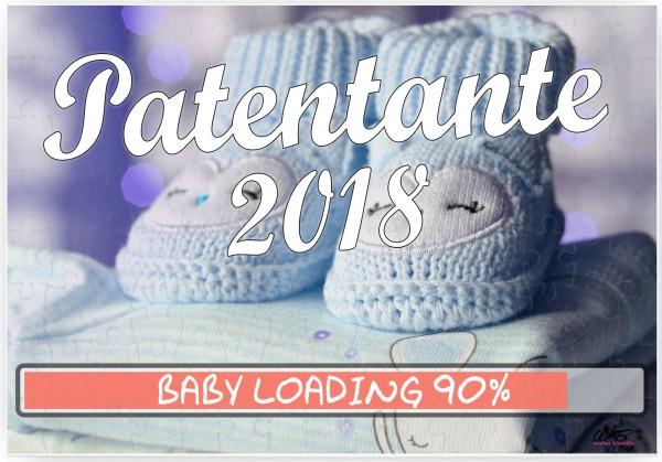 Puzzle-Botschaft eckig ~ Patentante 2018 / Junge blaue Baby-Schuhe ~ 120 Teile 27x18cm inkl. Geschenk-Beutel ~ WB wohn t