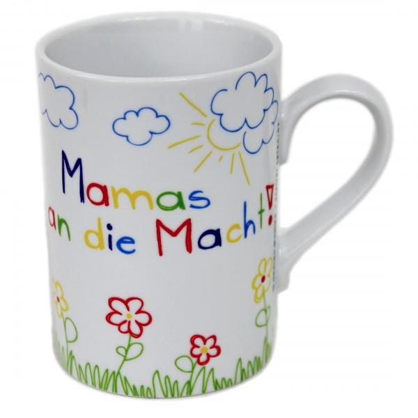Spruch Tasse - Mamas an die Macht! Buntes Motiv