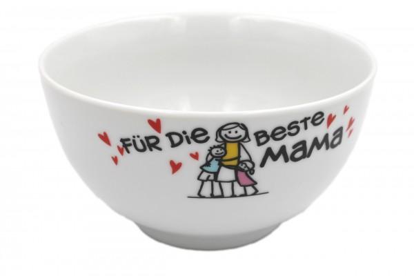 Müsli-Schale Für die beste Mama, weiß mit Bild, 15x8,5cm Schüssel Ritzenhoff & Breker