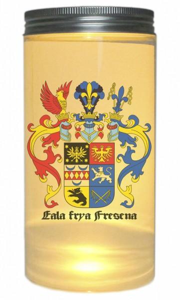 LED-Licht Ostfriesland Wappen Eala Frya Fresena, 14x7cm Dose mit Deckel Leuchte LED-Lampe mit Text Spruch