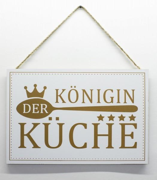 Holz-Schild zum Hängen, Königin der Küche, 30x20cm Deko-Schild