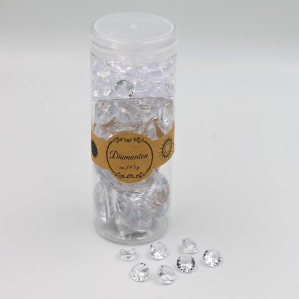 Kunst Diamanten zum Streuen, verschiedene Größen, Kristallklare Optik, 195g