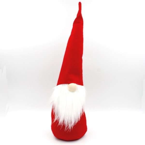 Süßer Wichtel mit Hut, Nase und Bart ~ rot weiß ~ 47cm ~ Weihnachts-Figur