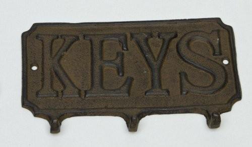 Hakenleiste Garderobe Handtuchhalter Gusseisen 'Keys' 3 Haken