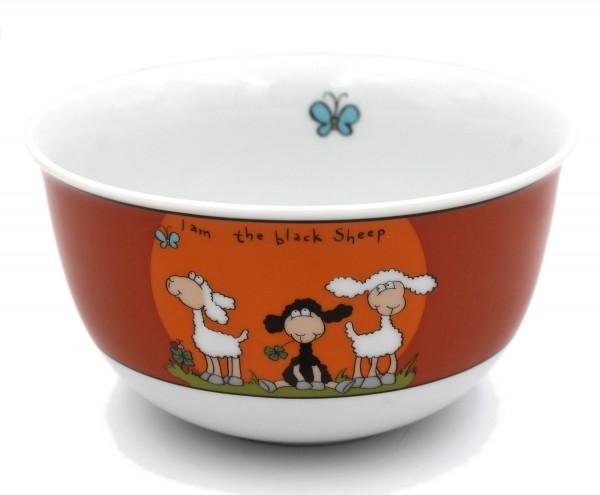 Müsli-Schale, I am the black Sheep, rot, schwarzes Schaf, Ritzenhoff, 14x8cm