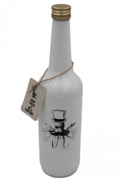 Glas-Flasche mit Schraubverschluss, Oktopus Skippy, weiß 0,7l maritim, Pirate Serie Zauberwerk by Ritzenhoff & Breker