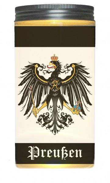 LED-Licht Preußen Wappen Fahne schwarz-weiß, rundum Druck 14x7cm Dose mit Deckel Leuchte LED-Lampe Text Spruch